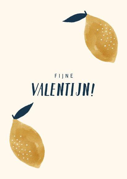 Valentijnskaart met citroentje en leuke quote 2