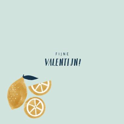 Valentijnskaart met citroentjes en leuke quote 2
