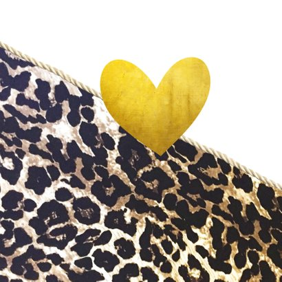 Liefdeskaart  met dierenprint 2