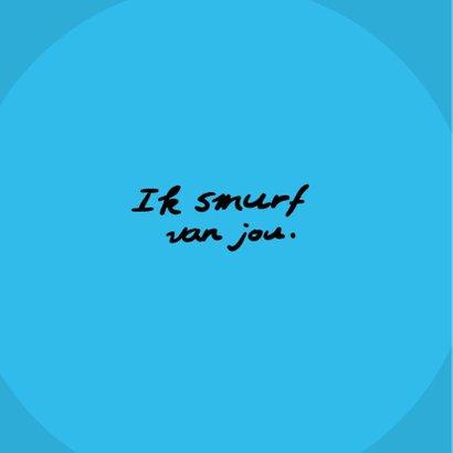 Valentijnskaart met grappige 'Ik smurf van jou' cartoon 2
