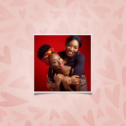 Valentijnskaart met hartjes de liefste ZUS dat ben jij 2