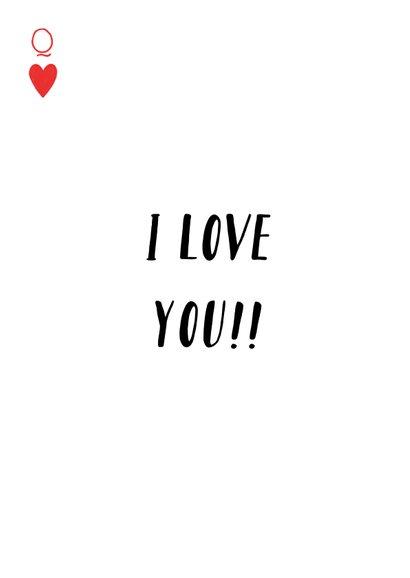 Valentijnskaart met illustratie van kleurrijke hartenvrouw 2