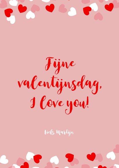 Valentijnskaart met kader van hartjes en foto 3