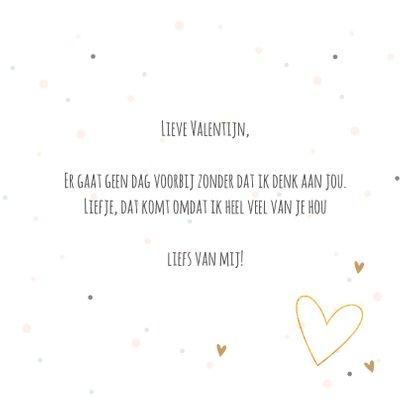 Valentijnskaart met tekst hou van jou 3