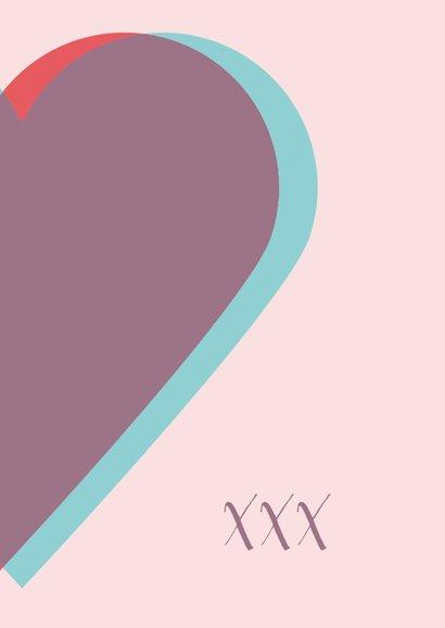 Valentijnskaart met twee harten 3