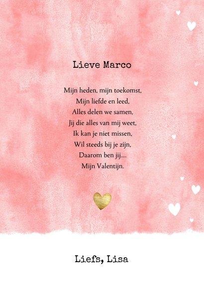 Valentijnskaart met waterverf, hartjes en foto 3