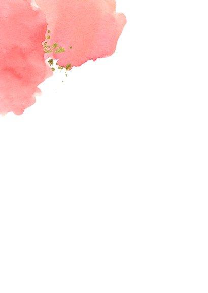 Valentijnskaart met waterverf liefde kaart 2