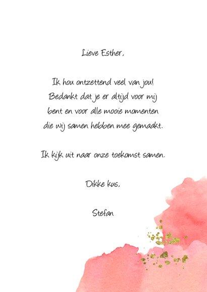 Valentijnskaart met waterverf liefde kaart 3