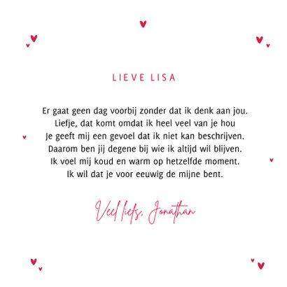 Valentijnskaart mondkapje hartje i love you 3