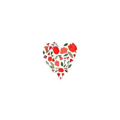 Valentijnskaart, naam en kransje 2