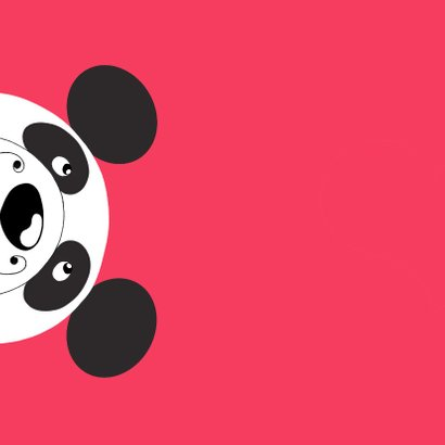 Valentijnskaart - panda - sprongetjes van geluk - SK 2