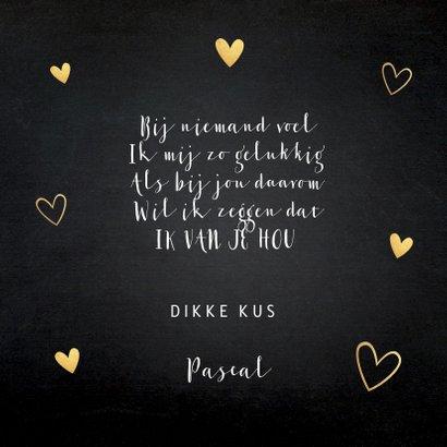 Valentijnskaart panterprint goudlook hartjes 3