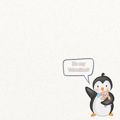 Valentijnskaart pinguins - TJ 3