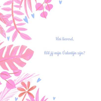 Valentijnskaart planten 2