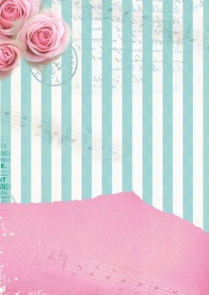 Valentijnskaart romantisch meisje rozen vintage  2