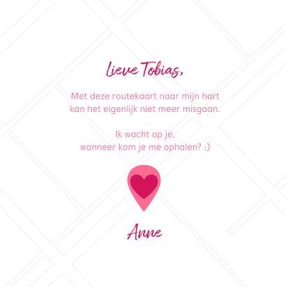 Valentijnskaart routekaart naar mijn hart 3