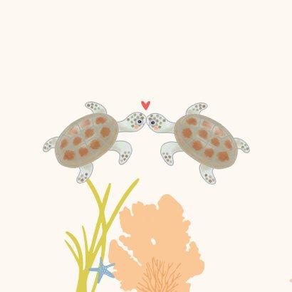 Valentijnskaart - Schildpadjes met hartje 2