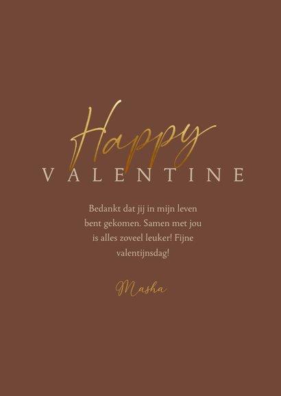 Valentijnskaart stijlvol met foto en gouden tekst 3