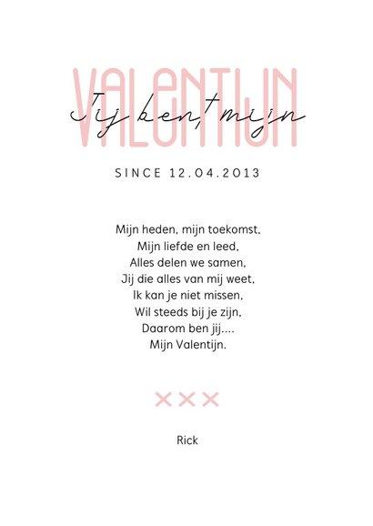 Valentijnskaart stijlvol typografisch waterverf met foto 3