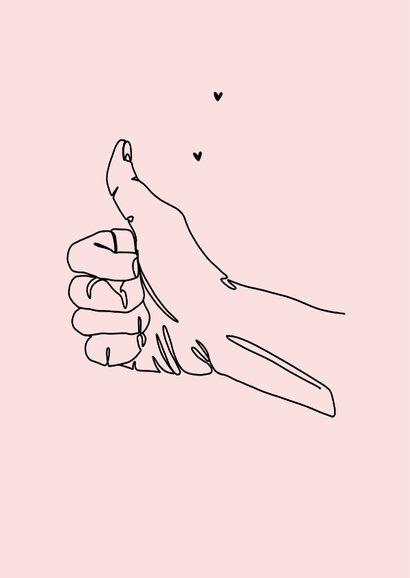 Valentijnskaart trots bedankt duimpje liefde thumbs up 2