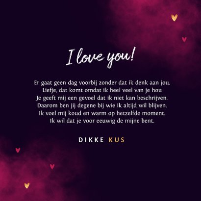Valentijnskaart true love neon stijlvol typografisch hartjes 3