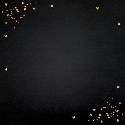 Valentijnskaart typografie zwart goudlook confetti 2
