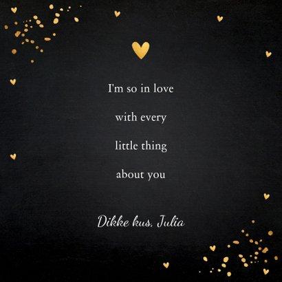 Valentijnskaart typografie zwart goudlook confetti 3