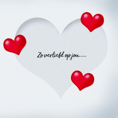 Valentijnskaart Verliefde smiley 3