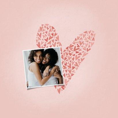 Valentijnskaart voor de liefste VRIENDIN met hart en foto 2
