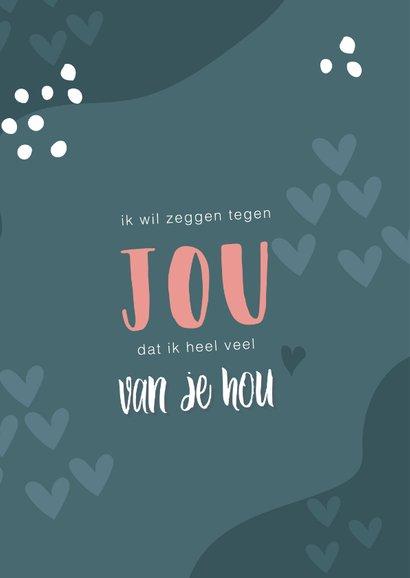 Valentijnskaart voor een man met tekst 'ik hou van jou' 2