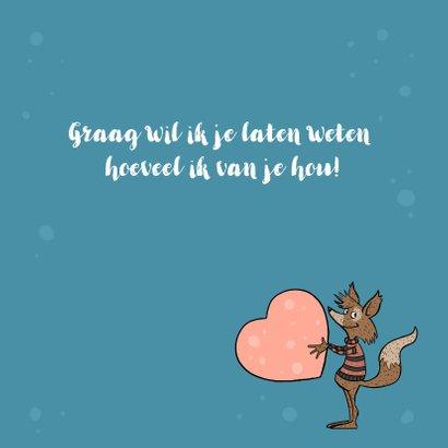 Valentijnskaart vos op de maan 2