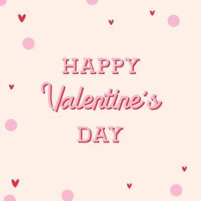 Valentijnskaart vriendschap you are beautiful hartjes 2