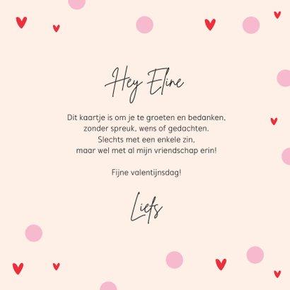 Valentijnskaart vriendschap you are beautiful hartjes 3