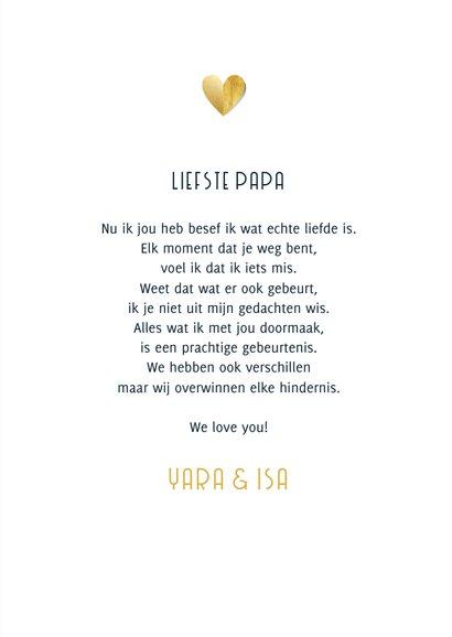 Valentijnskaart warme knuffel gouden hartjes foto's 3