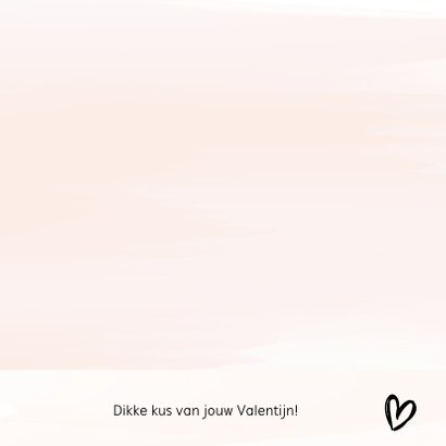 Valentijnskaart waterverf roze met tekst 3