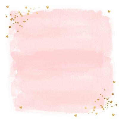 Valentijnskaart waterverf roze typografie goud confetti 2