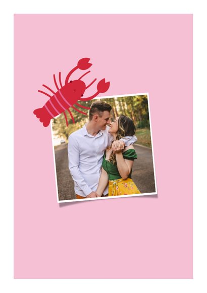 Valentijnskaart you are my lobster roze 2