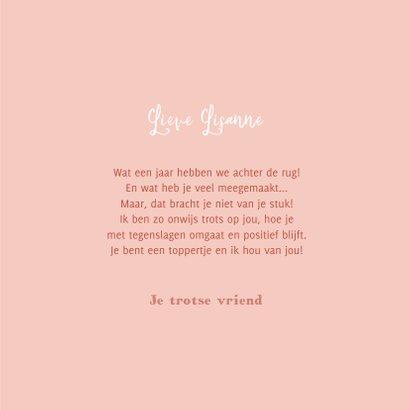 Valentijnskaart zo trots op jou pauw illustratie roze hartje 3