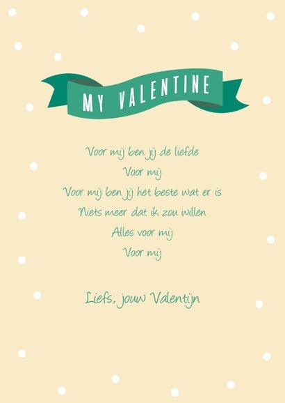 Valentijnskaartje met hartjes en stipjes 3