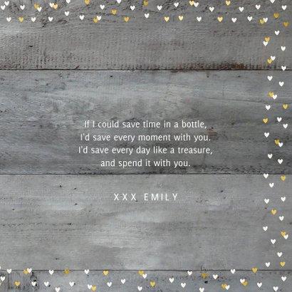 Valentins-Grußkarte mit Foto rustikaler Hintergrund 3