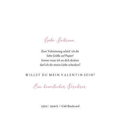 Valentinskarte Blumenherz 3