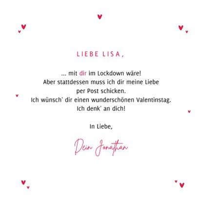 Valentinskarte Corona Mundschutz 'I love you' 3