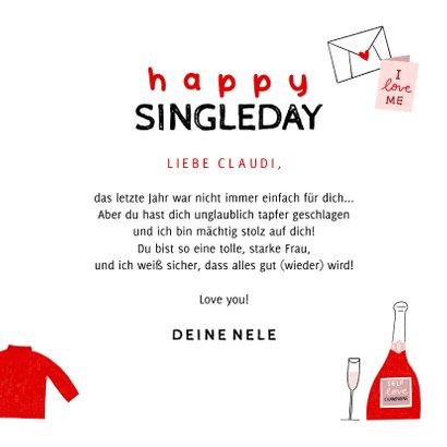 Valentinskarte Happy Single 3