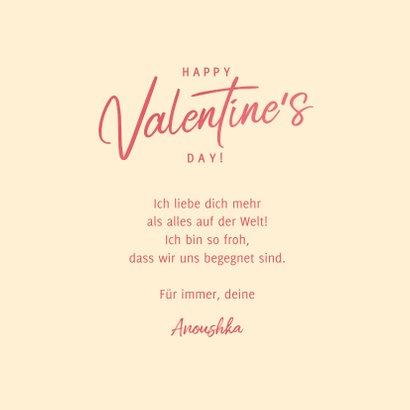 Valentinskarte Herz mit Blumen 3