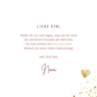 Valentinskarte Herzensfreundin 3