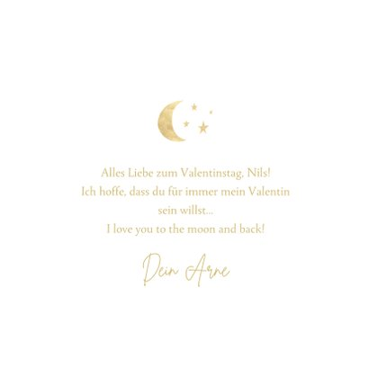 Valentinskarte 'I love you to the moon and back' 3