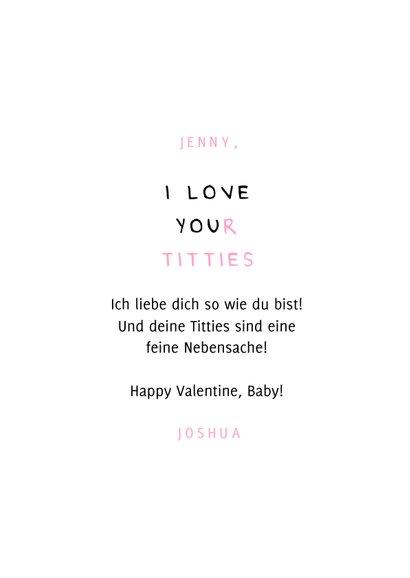Valentinskarte 'I love your titties' 3