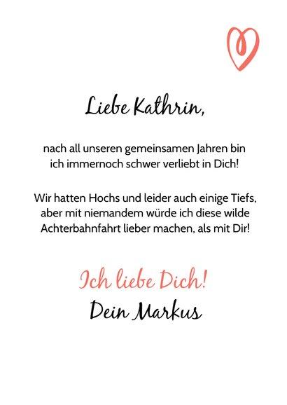 Valentinskarte Liebesbrief mit Initialen 3