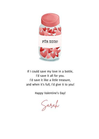 Valentinskarte Liebesvorrat 3