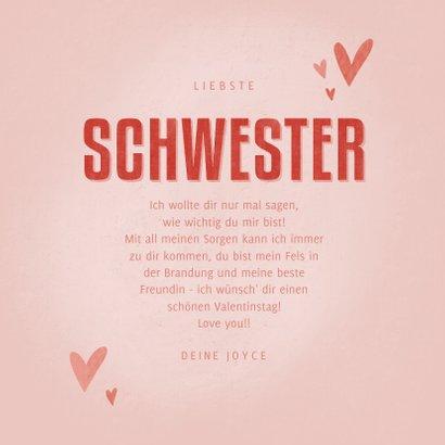 Valentinskarte 'Meine liebste Schwester' 3